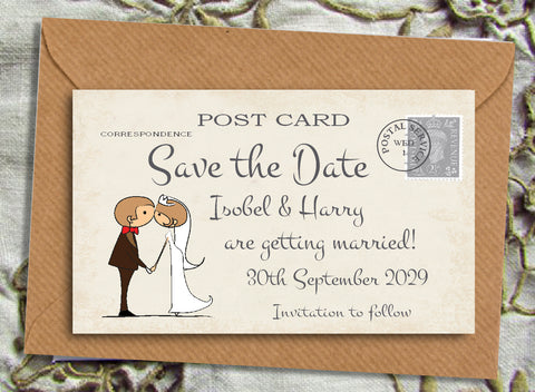 034 Couple Kissing Save the Date Magnet