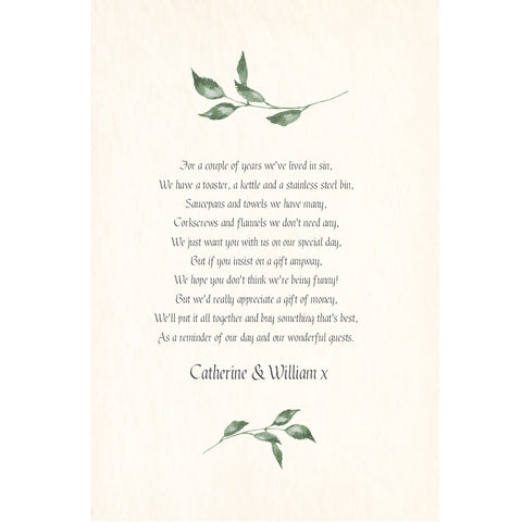 004 Summer Leaves Poem Cards