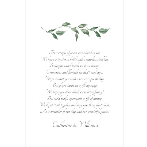 030 Green Leaves Poem Cards
