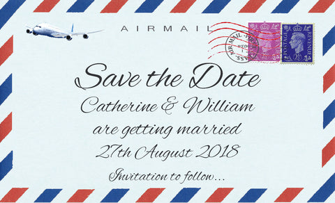 033 Airmail Save the Date Magnet