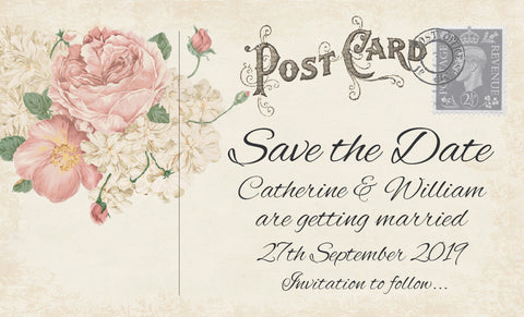 042 Ivory Postcard Save the Date Magnet