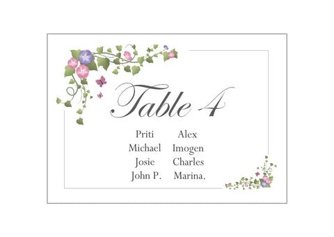 041 Ivy Corners Seating Plan Cards