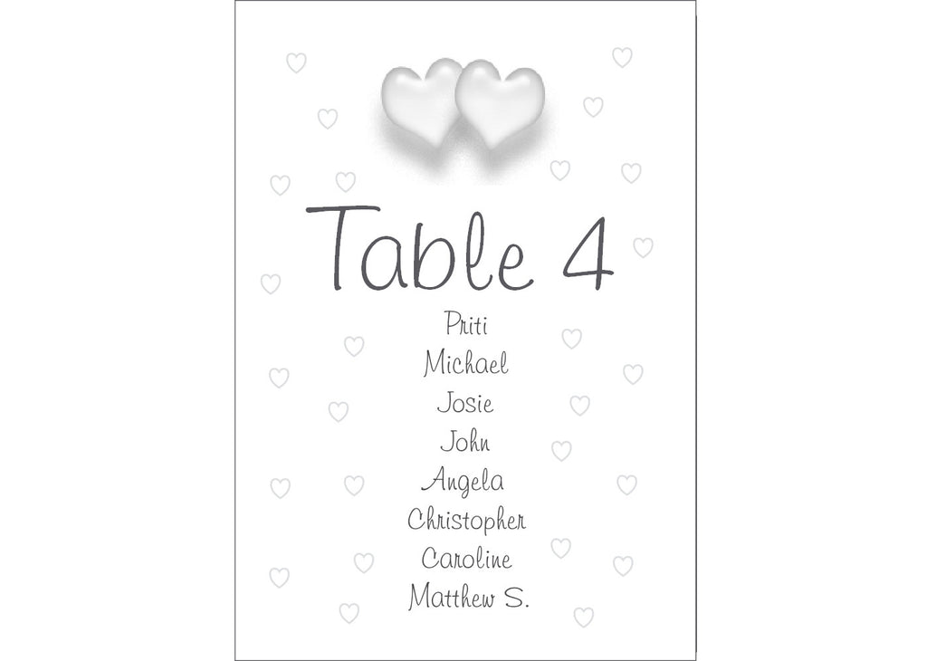 050 Love Hearts Seating Plan Cards