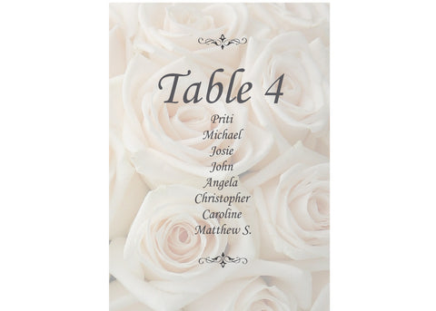 020 Ivory Roses Seating Plan Cards
