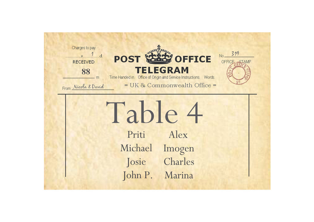 003 PO Telegram Seating Plan Cards
