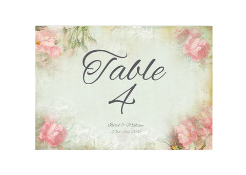 053 Pink Corners Table Number Cards