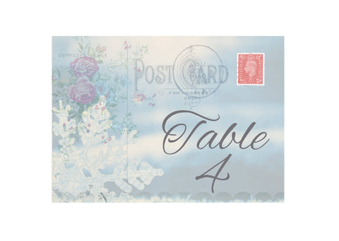060 Postcard Snowflake Table Number Cards