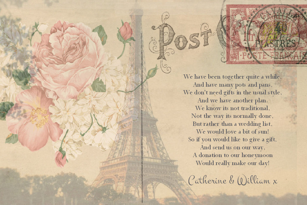 056 Paris Postcard Poem Cards