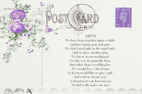 043 Lavender Postcard Poem Cards