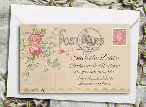 067 Rose Bouquet Save the Date Magnet