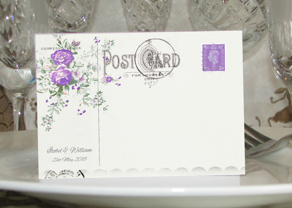 043 Lavender Postcard Place Cards