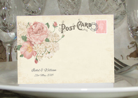 042 Ivory Postcard Place Cards