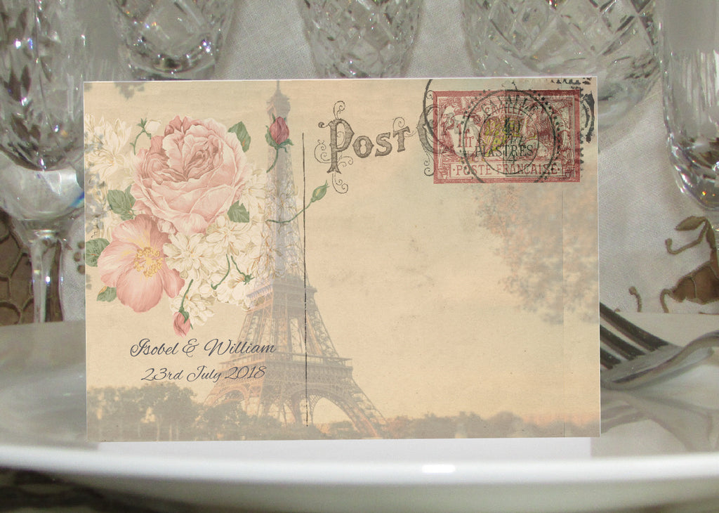 056 Paris Postcard Place Cards