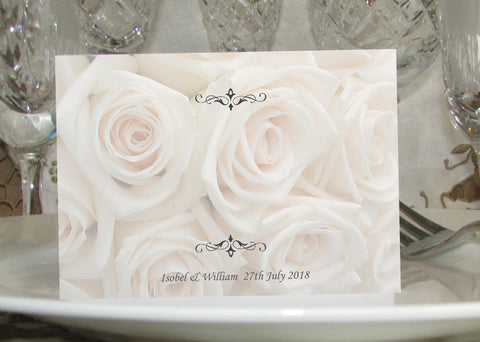 020 Ivory Roses Place Cards
