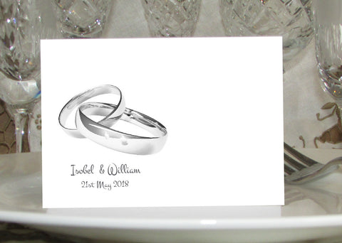 059 Wedding Rings Place Cards