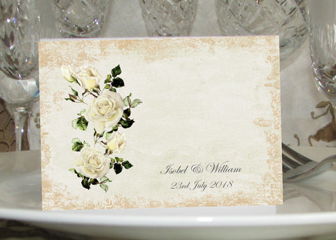 068 Rose Shabby Place Cards