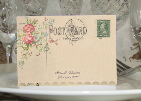 010 Flower Postcard Place Cards