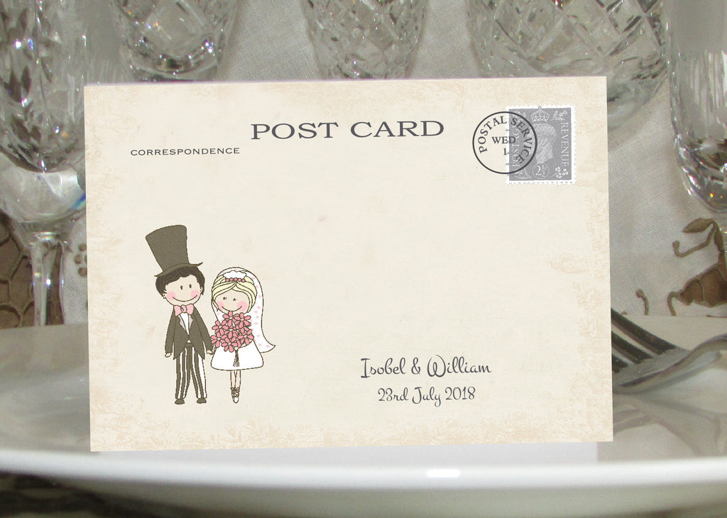 071 Shabby Couple Place Cards