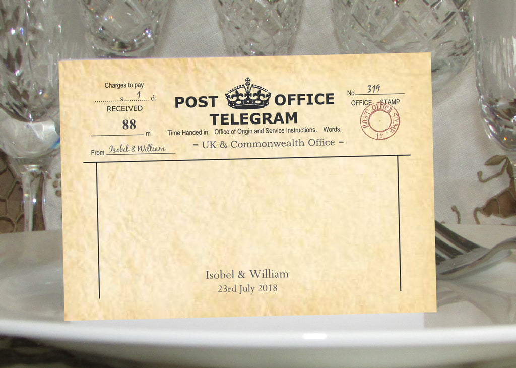 003 PO Telegram Place Cards