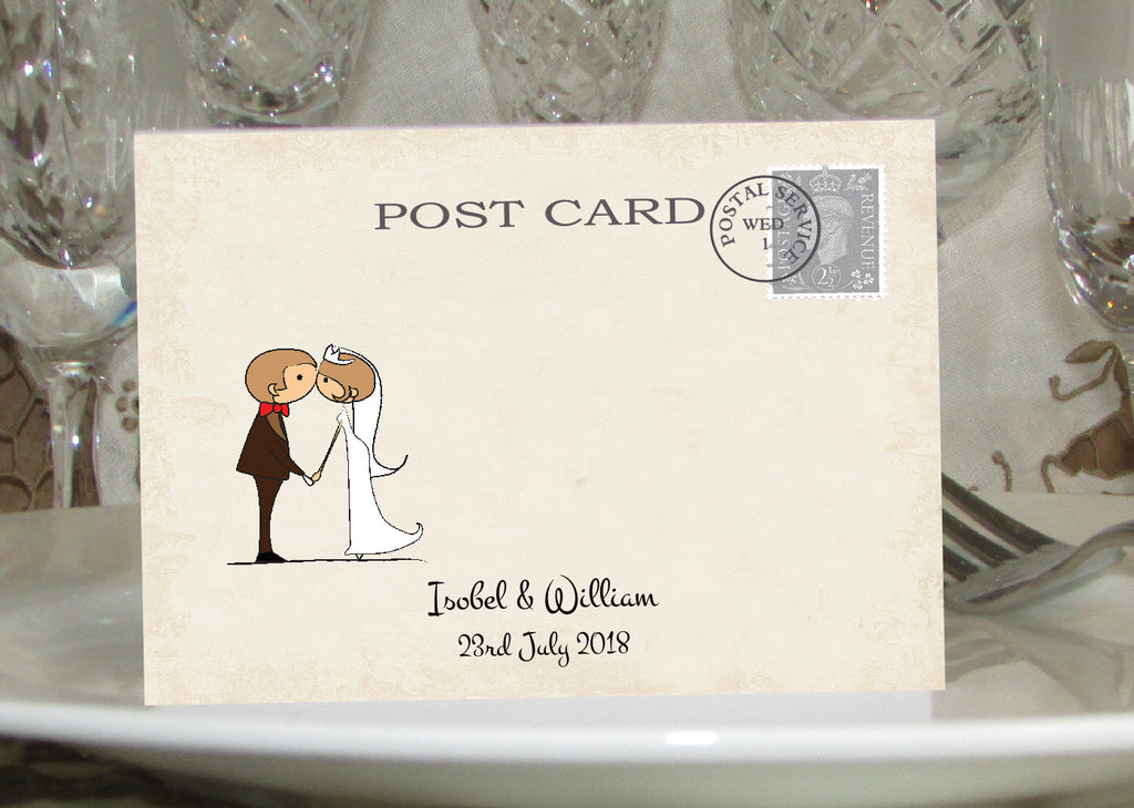 034 Couple Kissing Place Cards