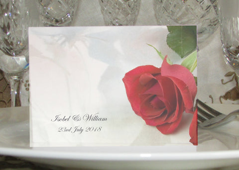 065 Red Rose Place Cards