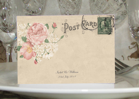 001 Bouquet Postcard Place Cards