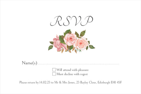 070 Blush Rose R.S.V.P. Cards
