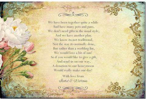 016 Flower Filigree Poem Cards