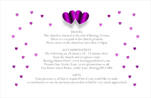 061 Purple Hearts Information Cards