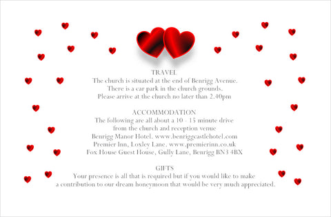 064 Red Hearts Information Cards