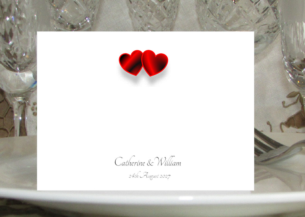 024 Red Hearts Place Cards