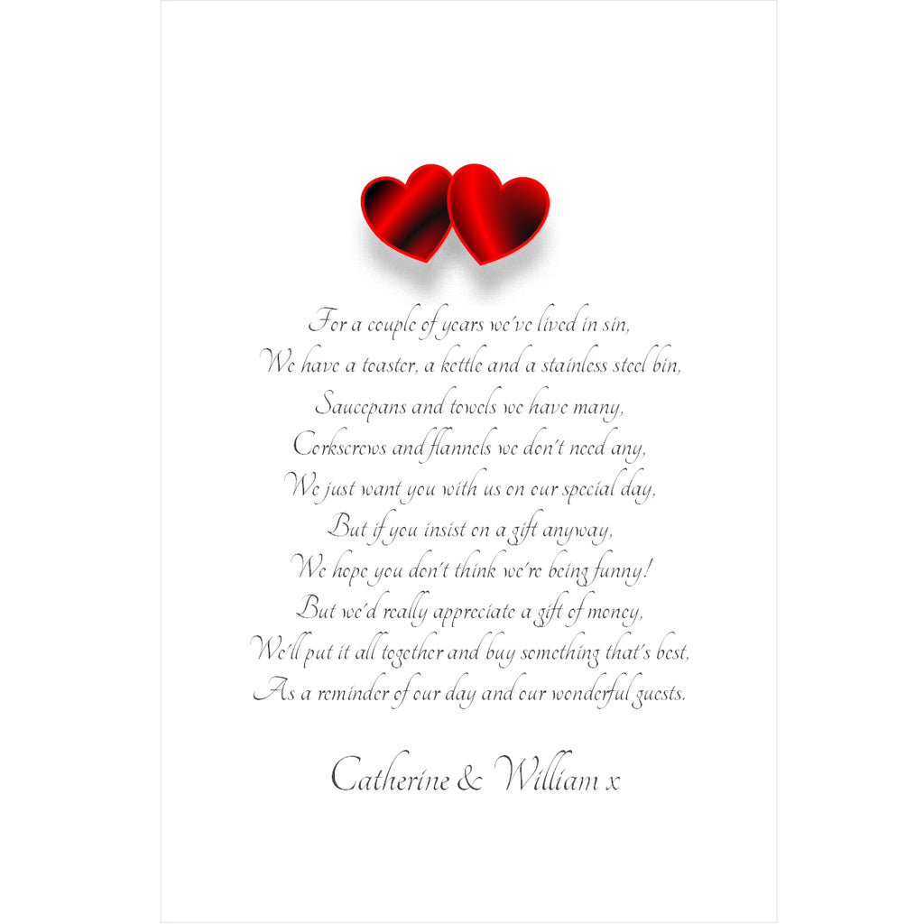 024 Red Hearts Portrait Poem Cards