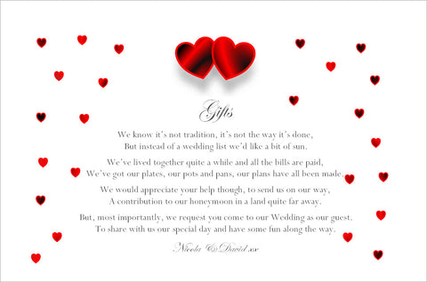 064 Red Hearts Poem Cards