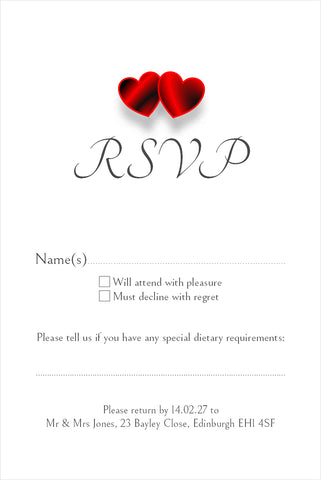 024 Red Hearts R.S.V.P. Cards