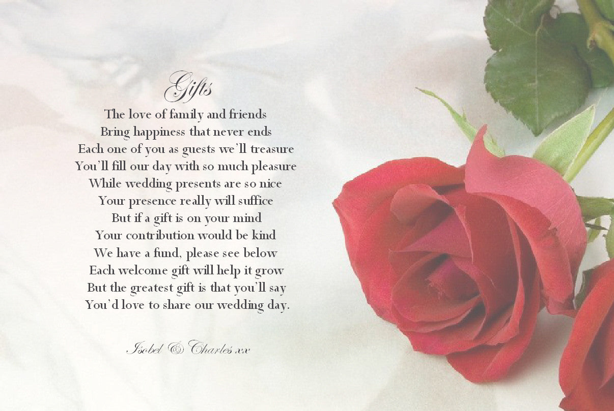 065 Red Rose Poem Cards – Josephine and Daughters