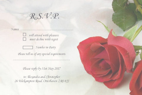 065 Red Rose R.S.V.P. Cards