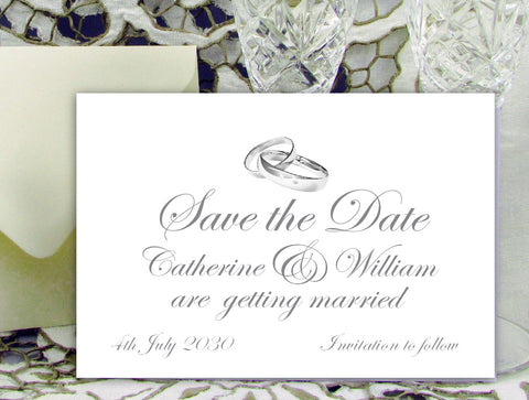 017 Rings Above Save the Date Card