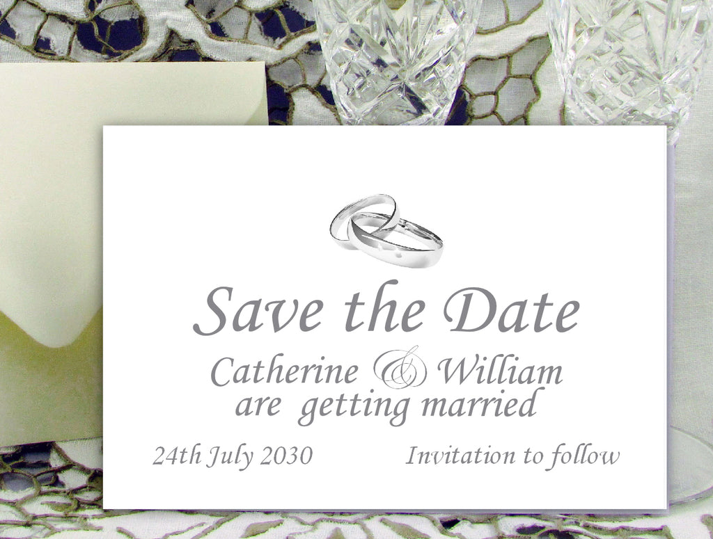 048 Linked Rings Save the Date Card