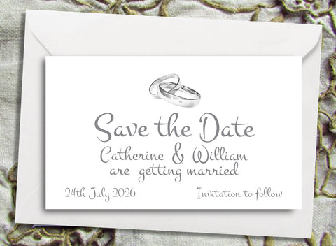059 Wedding Rings Save the Date Magnet