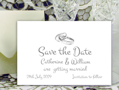 059 Wedding Rings Save the Date Card
