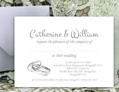059 Wedding Rings Wedding Invitations