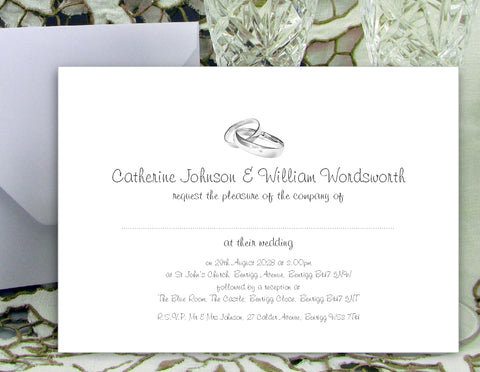 066 Rings Modern Wedding Invitations