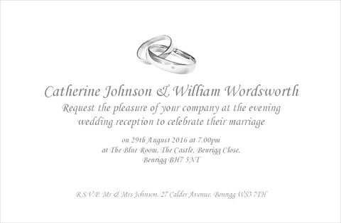 048 Linked Rings Wedding Invitations