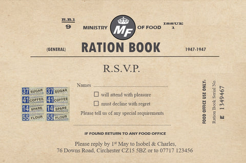 026 Ration Book R.S.V.P. Cards