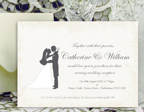 051 Loving Hug Wedding Invitations