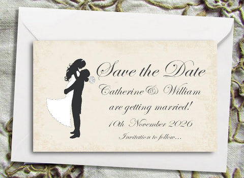 027 Silhouette Script Save the Date Magnet