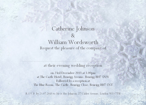040 Frosty Shimmer Wedding Invitations