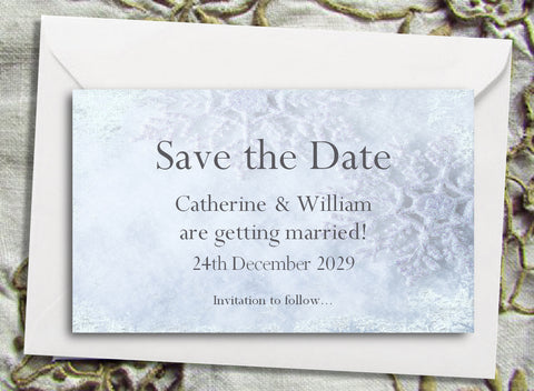 040 Frosty Shimmer Save the Date Magnet