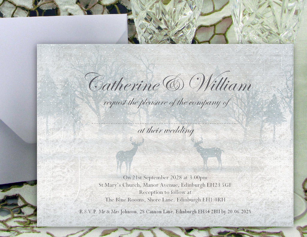 022 Frosty Wonderland Wedding Invitations