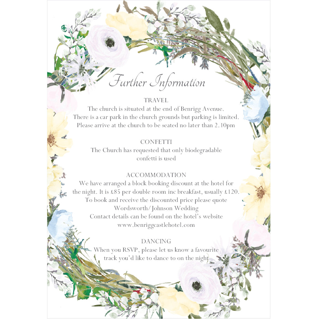007 Spring Flowers Information Cards